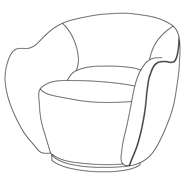 Wysiwyg Chair Swivel Option and Upholstery