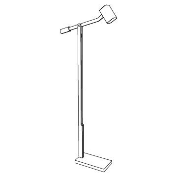 Oscar Reading Lamp 53.5 inches high