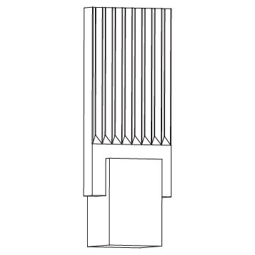 Pleated Glass Sconce 6 wide x 16.5 high (inches)