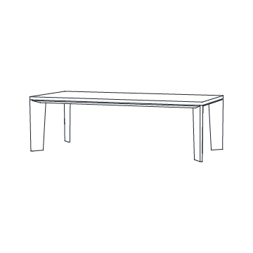 Keel Dining Table 96 inches wide