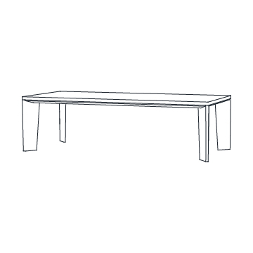 Keel Dining Table 108 inches wide