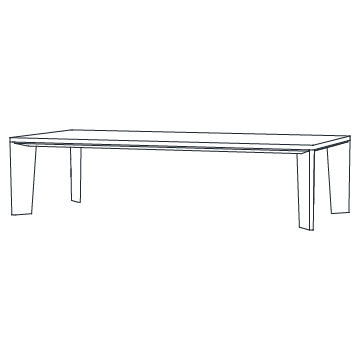Keel Dining Table 120 inches wide