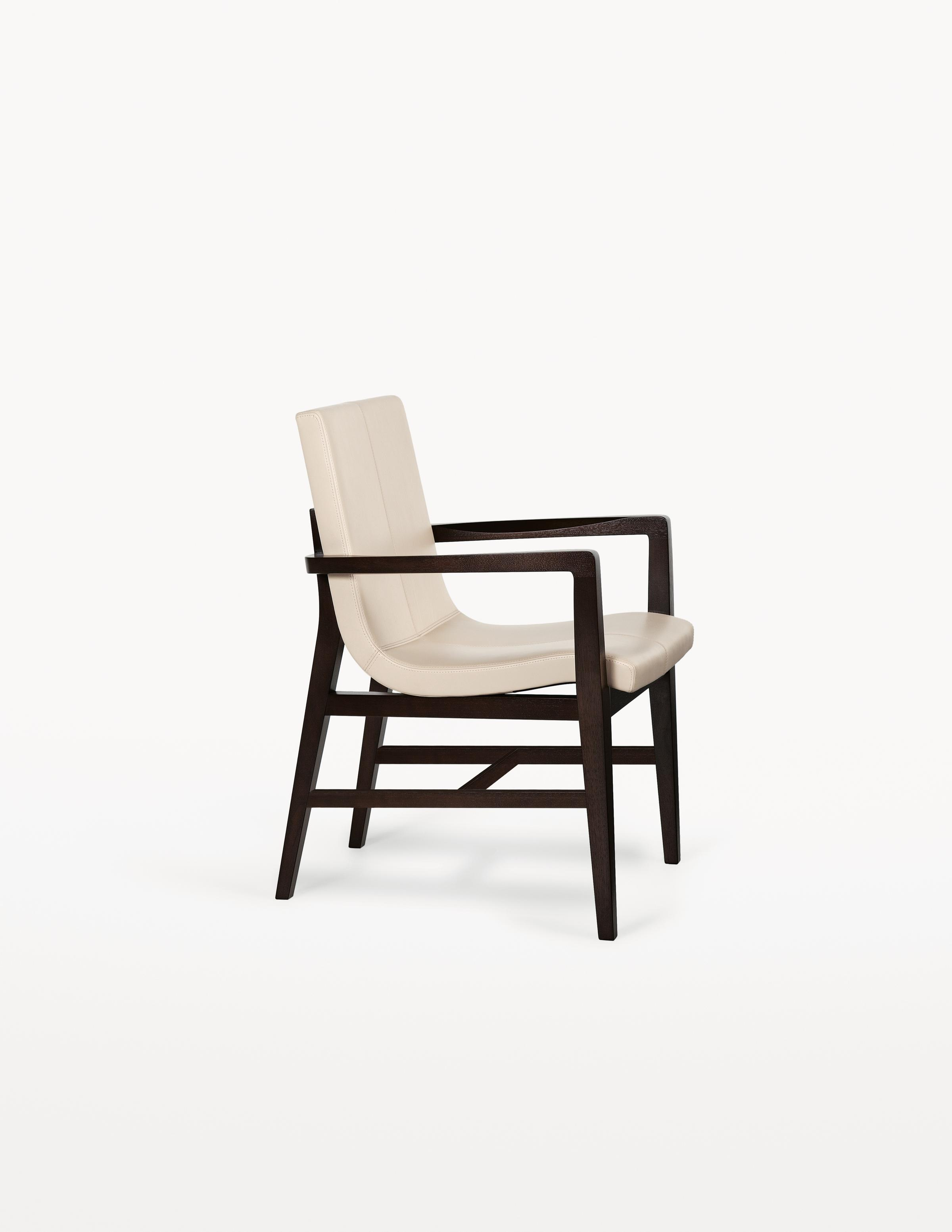 Siren Dining Arm Chair with stretcher