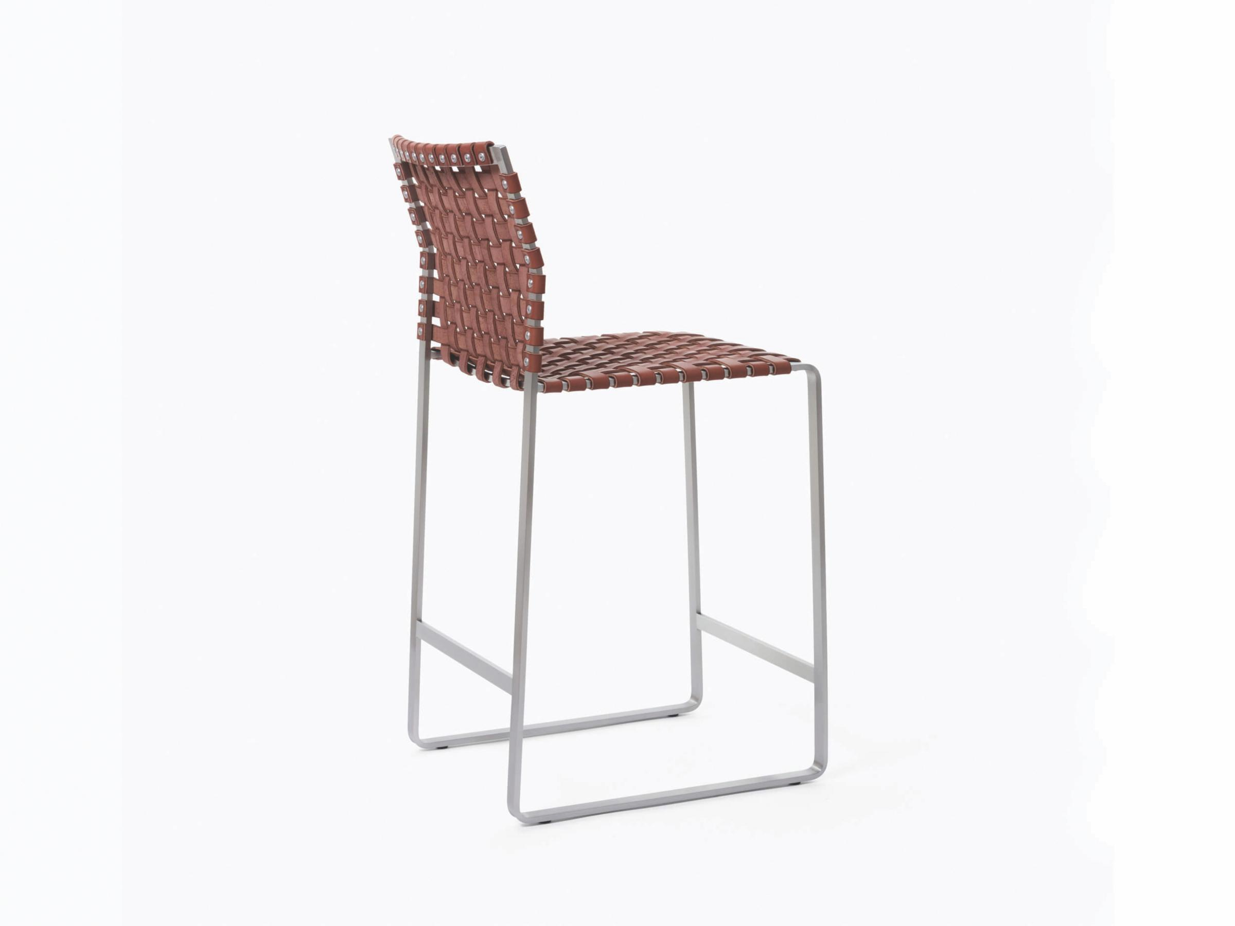 High Woven Back Counter Stool