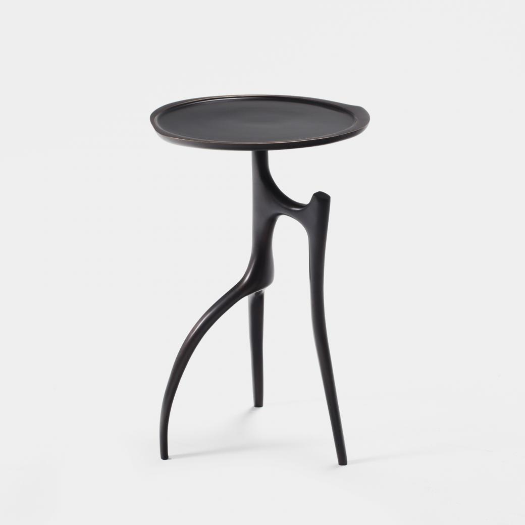 Branche Table Cast Bronze in Monument Dark Bronze Patina