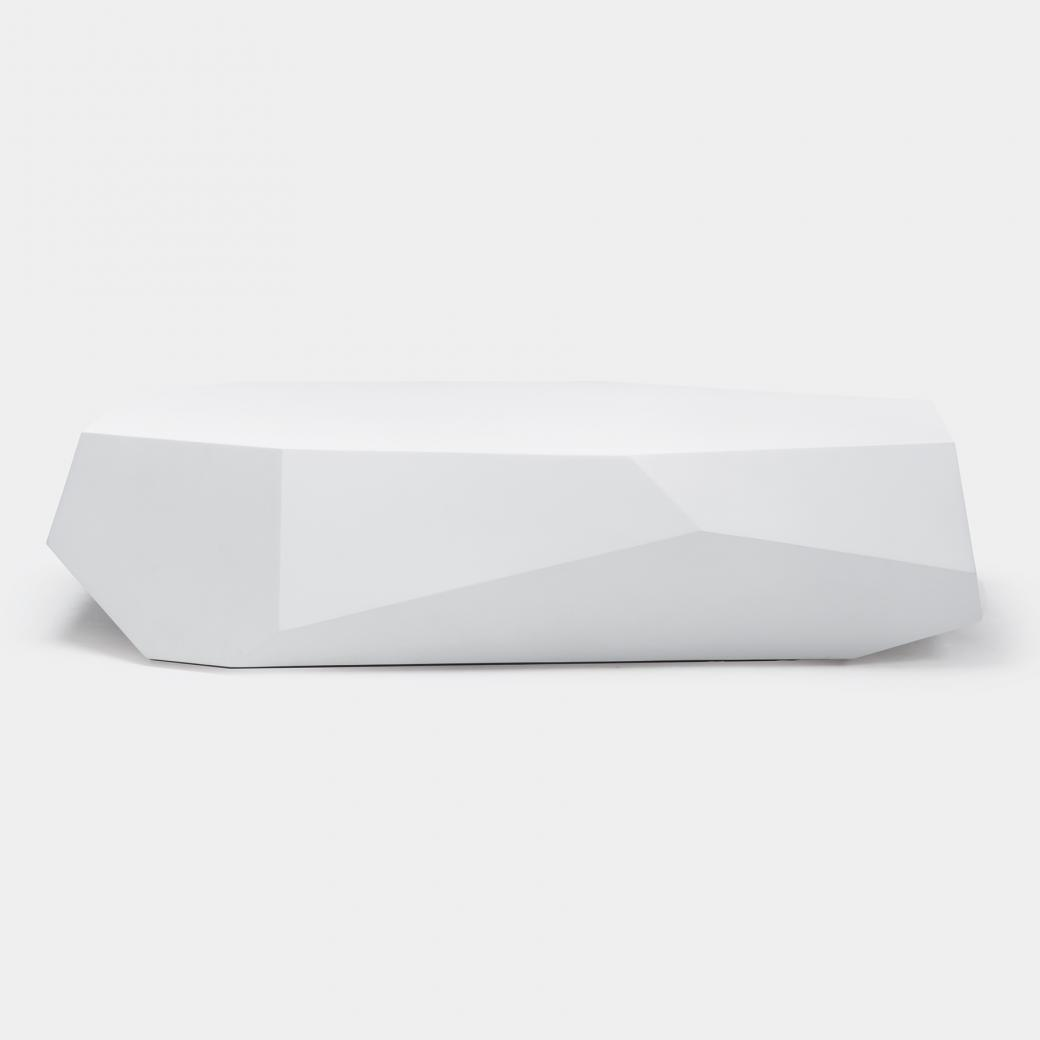 Cachalot Cocktail Table, Polar White