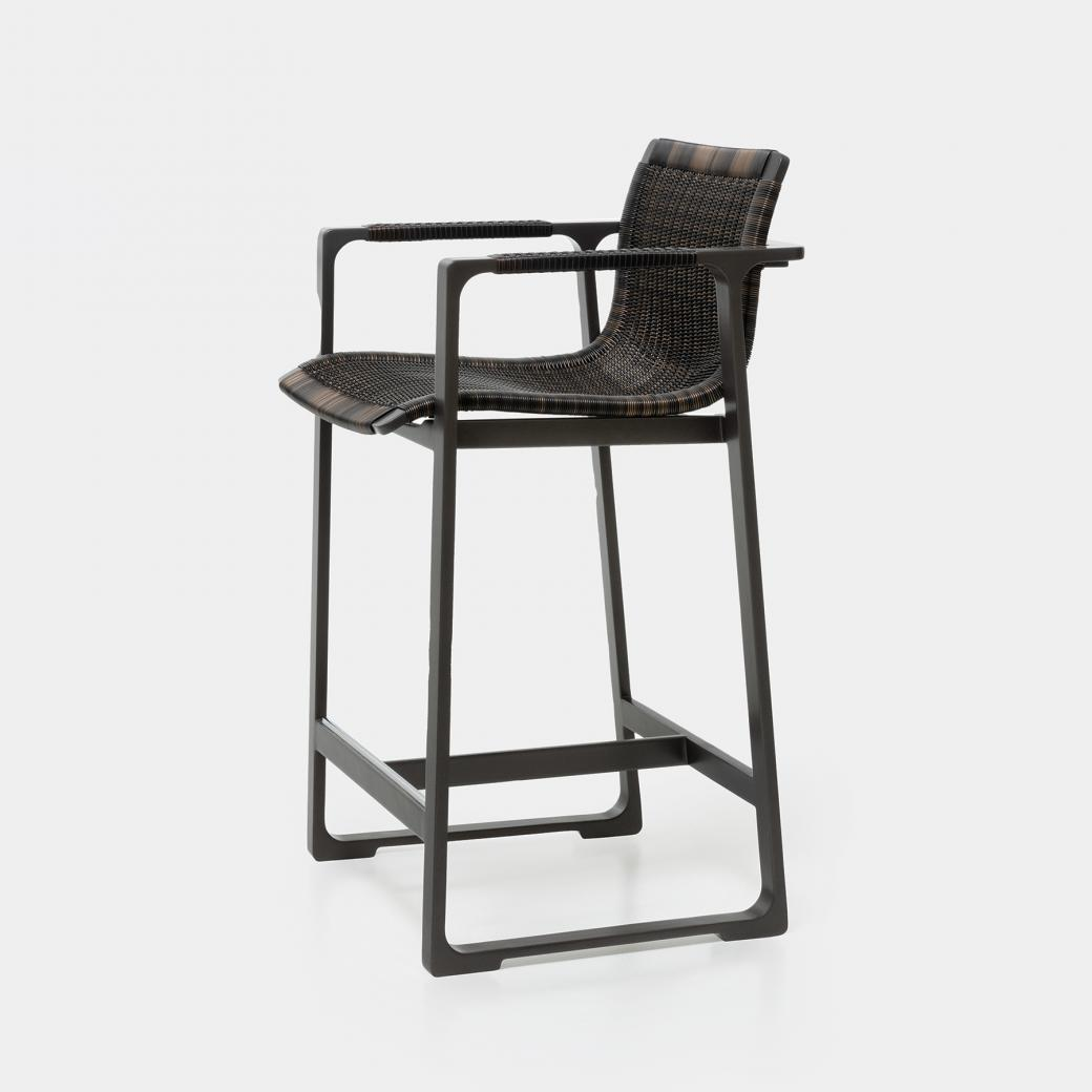 Keel Counter Stool, Basalt Frame