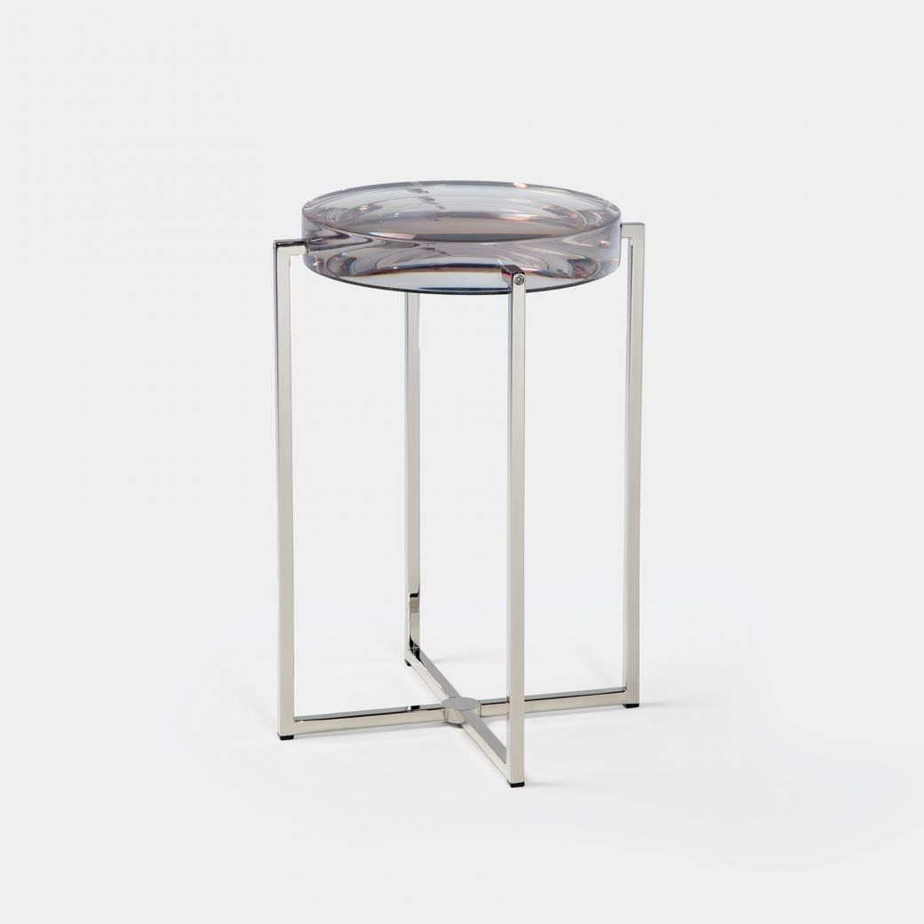 Lens Table Sz 1, Nickel Base, Clear Top