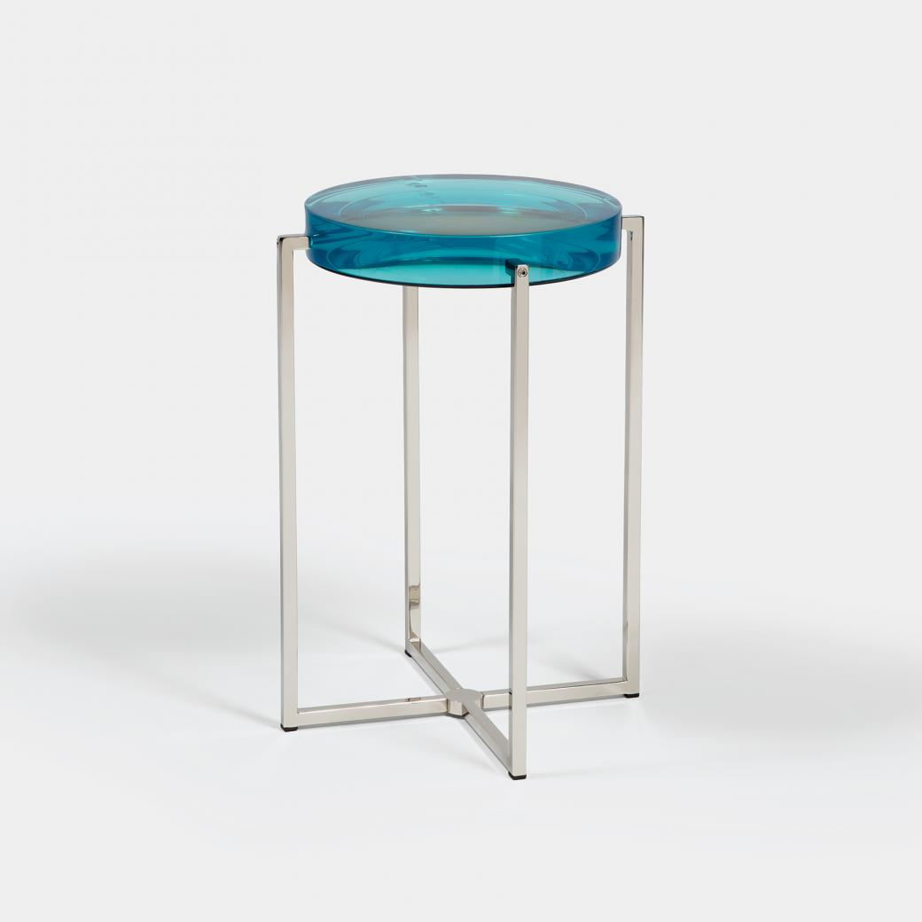 Lens Table Sz 1, Nickel Base, Turquoise Top