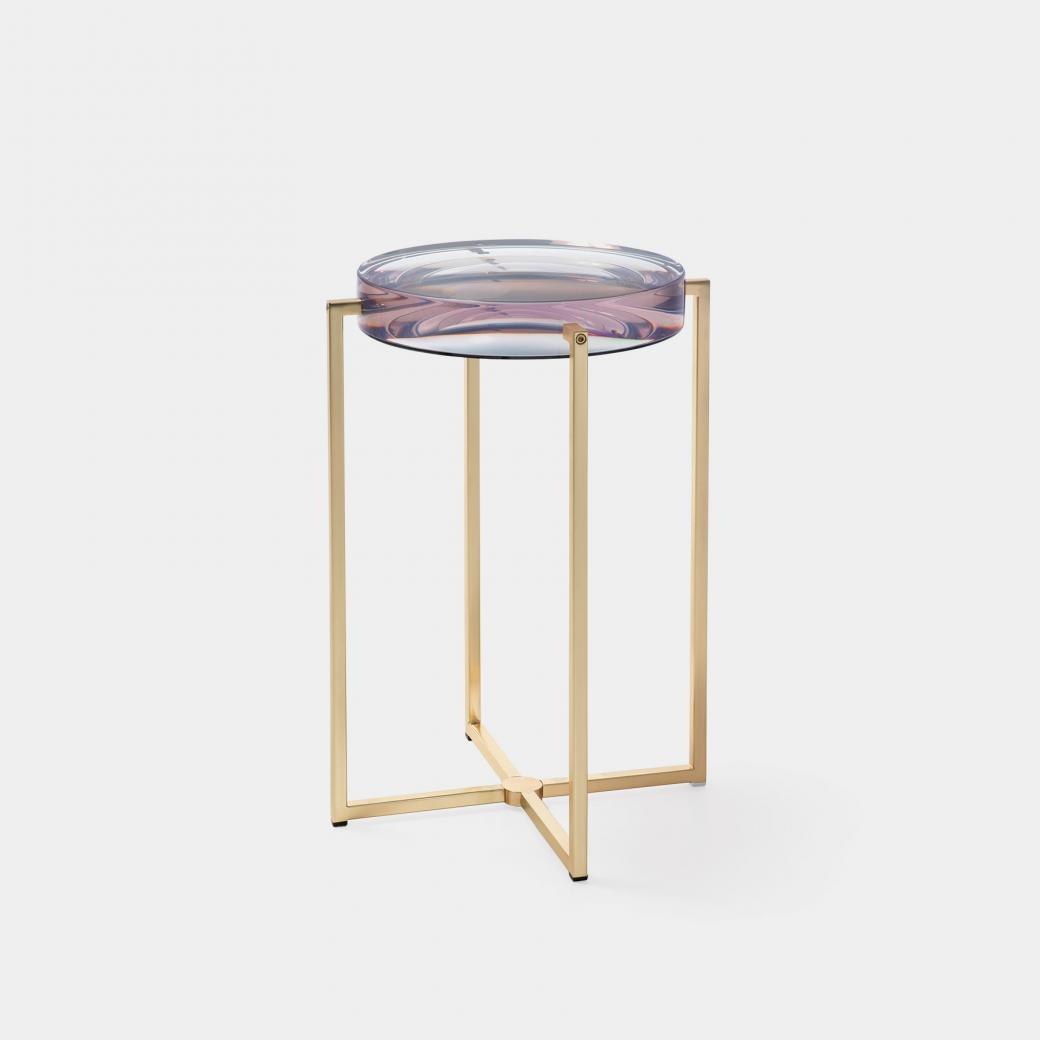 Lens Table Sz 1, Brass Base, Clear Violetta Top