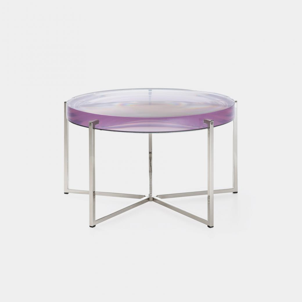 Lens Table Sz 3, Nickel Base, Clear Violetta Top