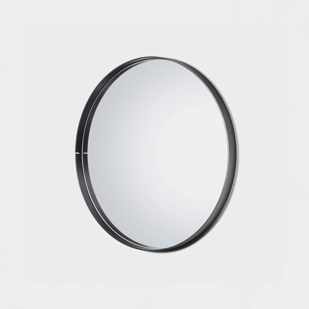 "One Shot Mirror Black Steel 36"" Diameter"
