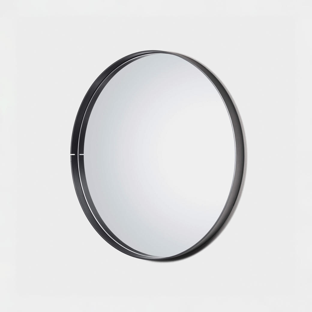 "One Shot Mirror Black Steel 42"" Diameter"