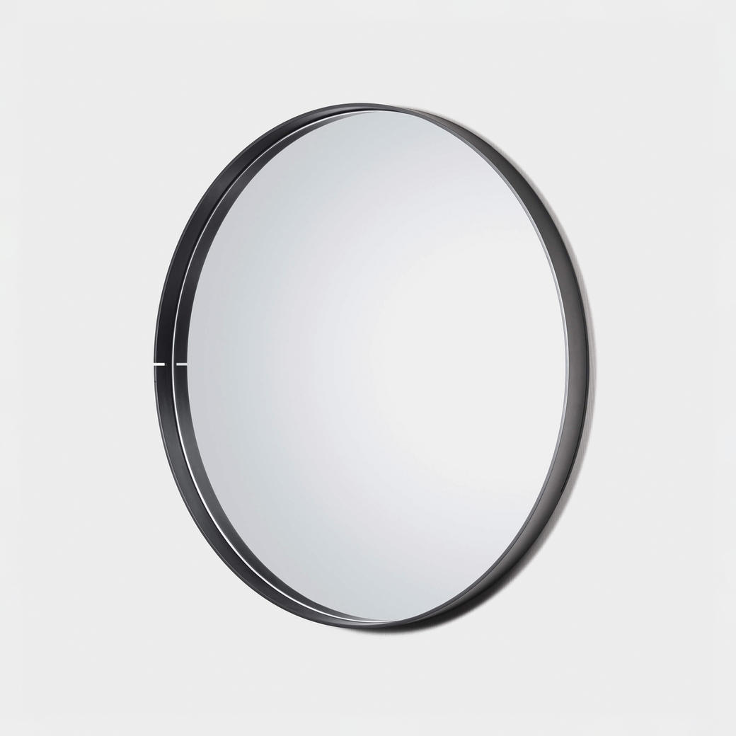 "One Shot Mirror Black Steel 48"" Diameter"