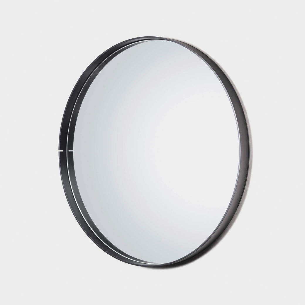 "One Shot Mirror Black Steel 52"" Diameter"