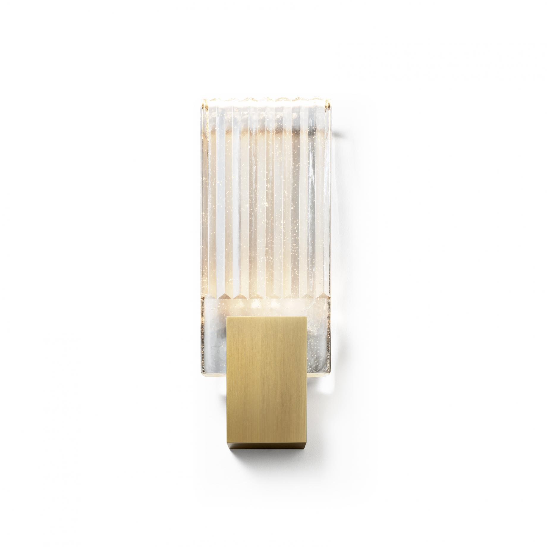 Pleated Glass Sconce