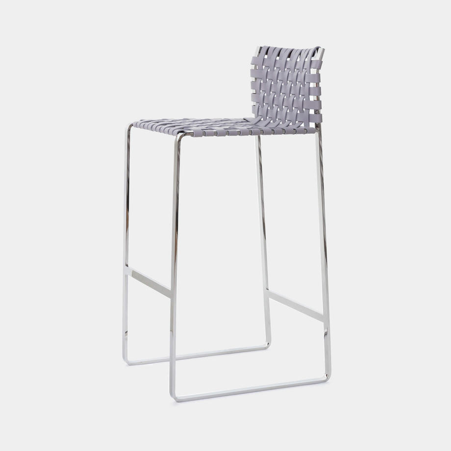 Low Woven Back Bar Stool