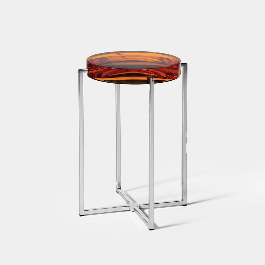 Lens Table Sz 1, Nickel Base, Amber Top