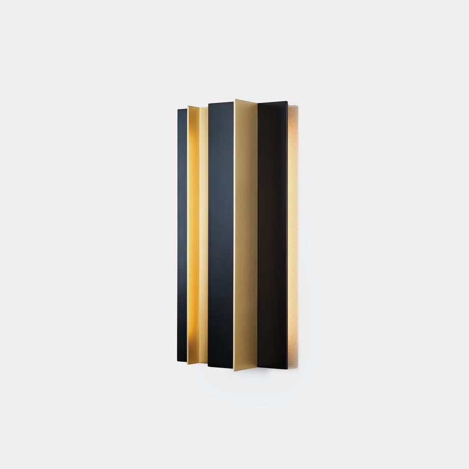 Secret Sconce Satinated Brass with Matte Black Nickel