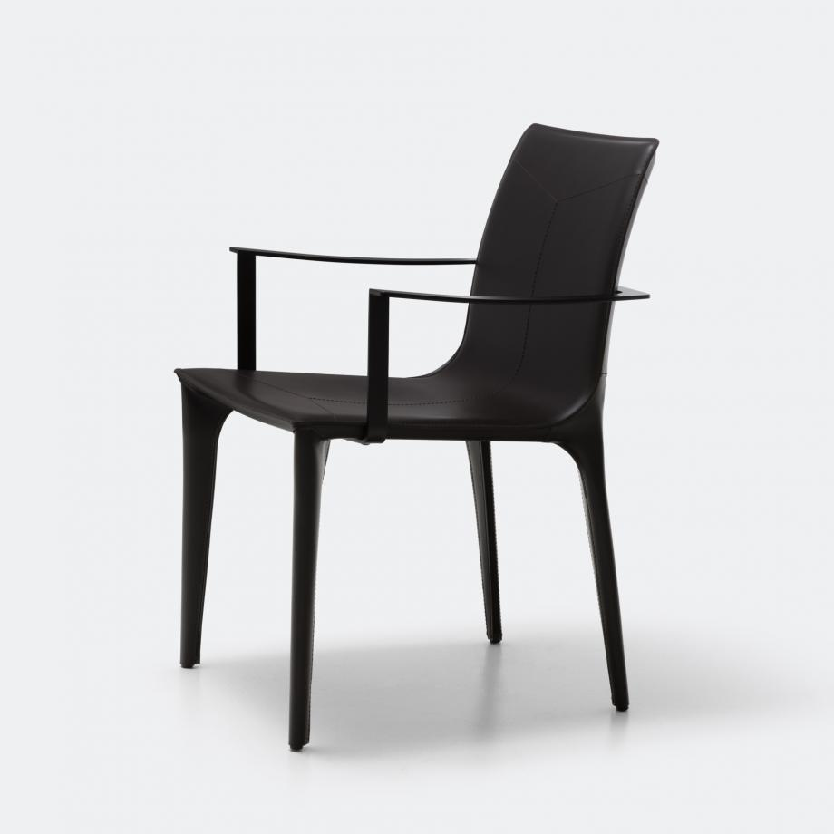 Adriatic Dining Arm Chair Matte Black 02-610 Caffe