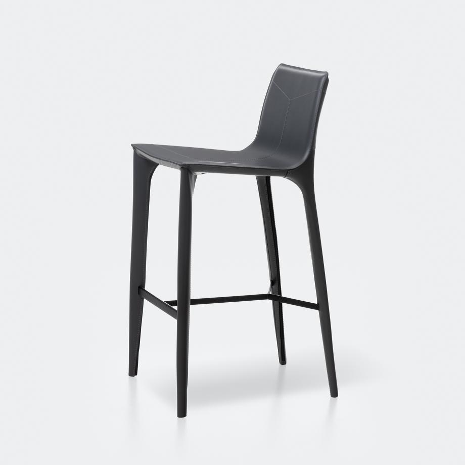 Adriatic Bar Stool Matte Black 02-200 Dark Grey