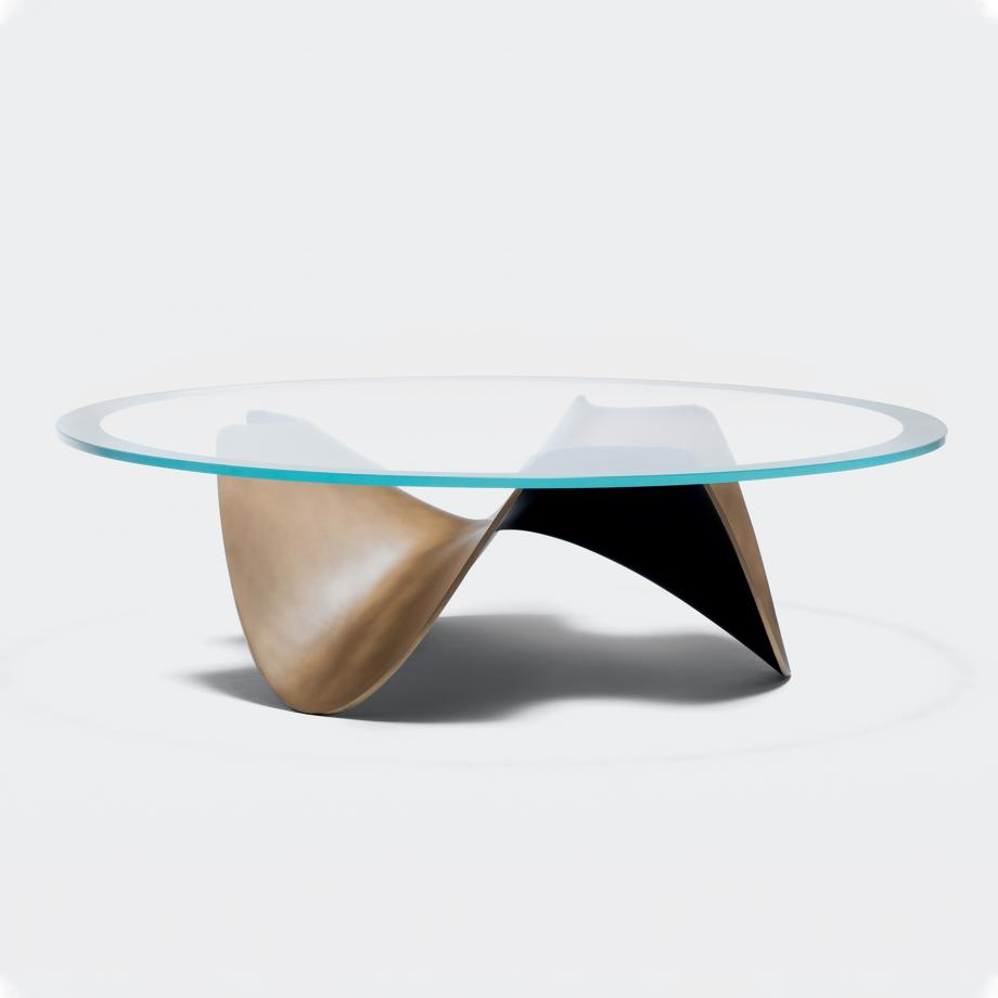 Atom Cocktail Table Size 1, Starfire glass