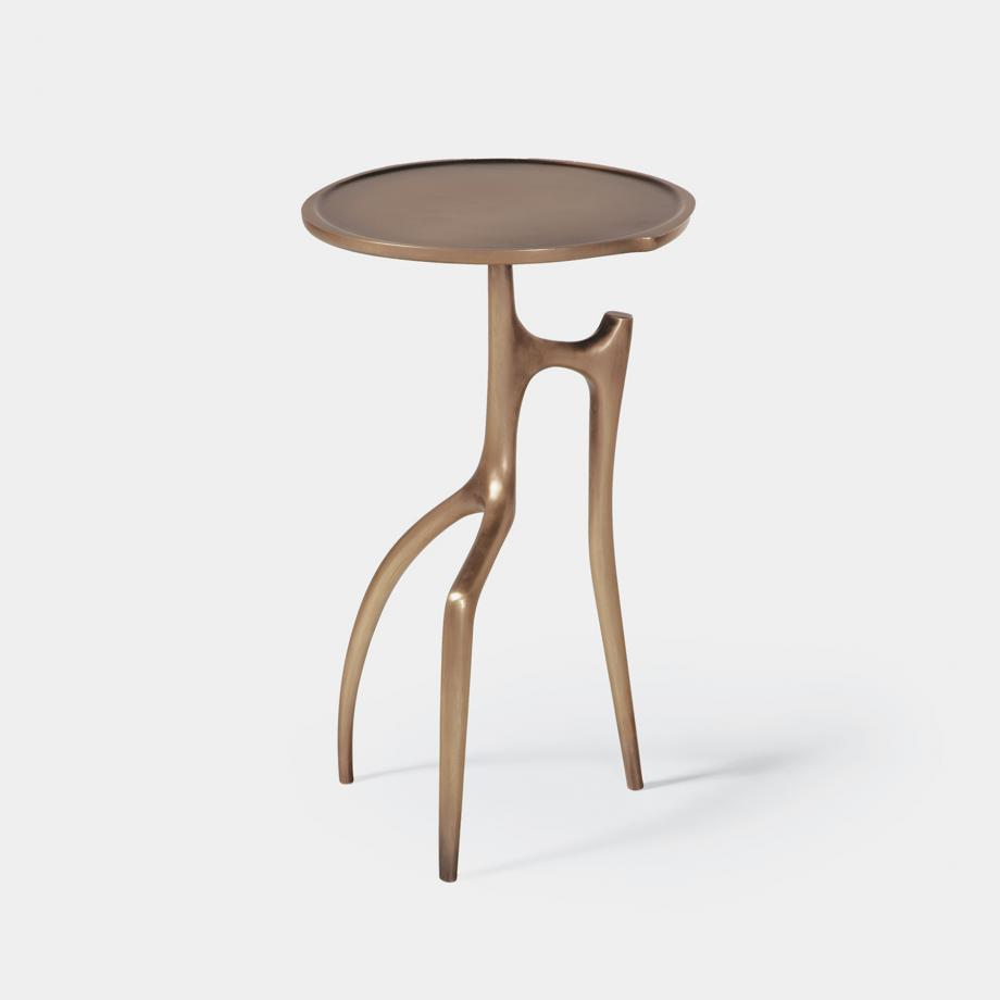 Branche Table Cast Bronze in Monument Light Bronze Patina