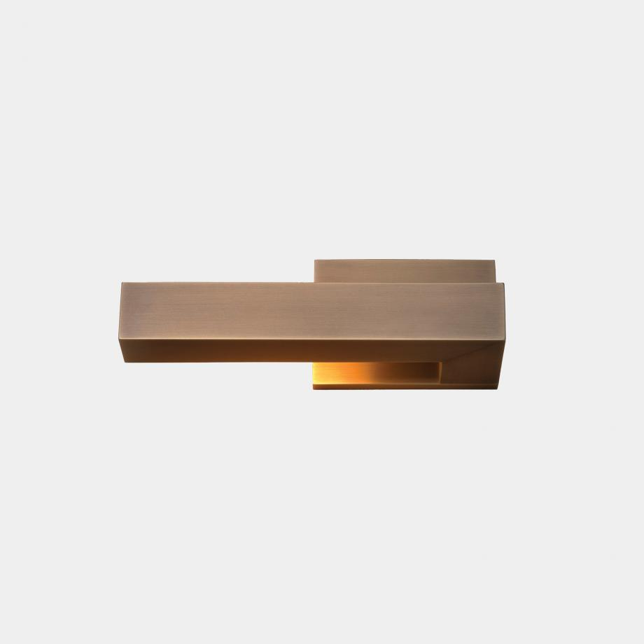 Bar Sconce - Left Facing Golden Bronze Patina