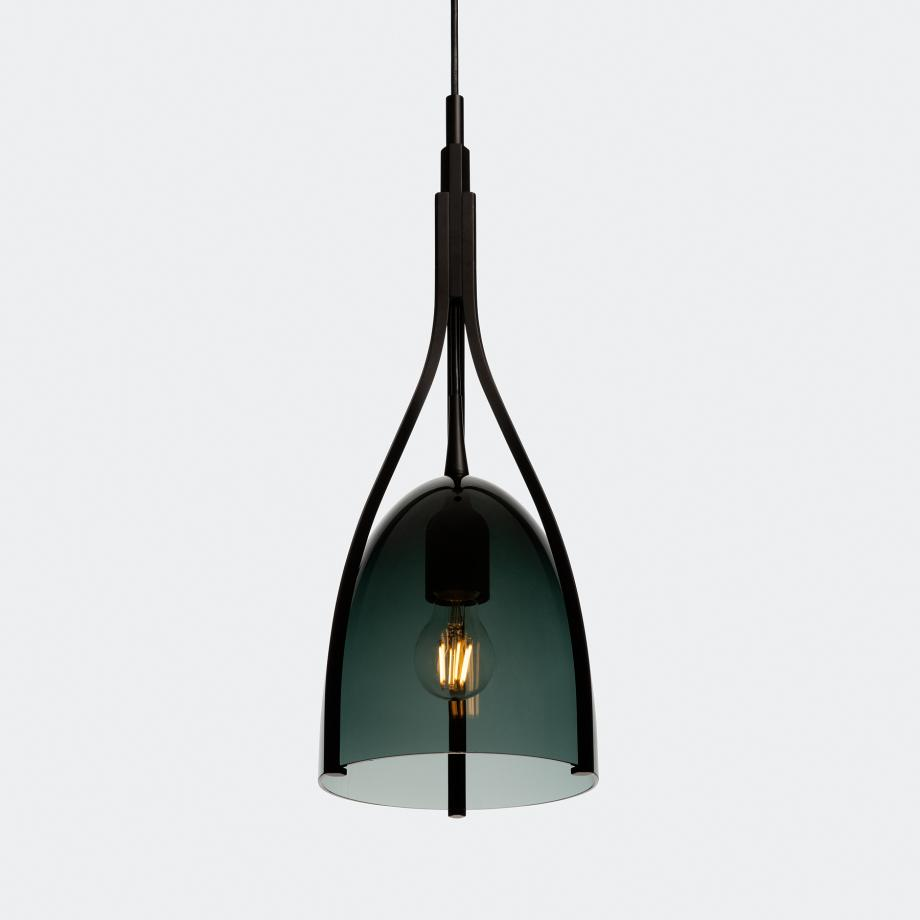 Black Cat Pendant Anthracite with Kerosene Glass Shade