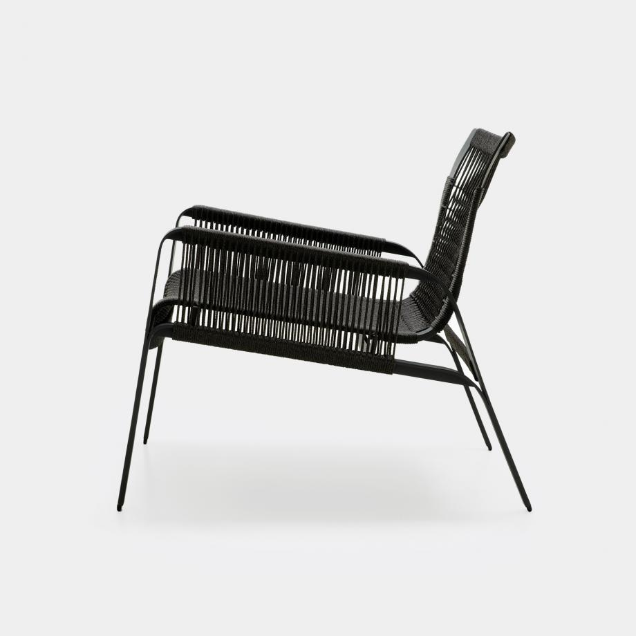 Caracal Lounge Chair, Raven