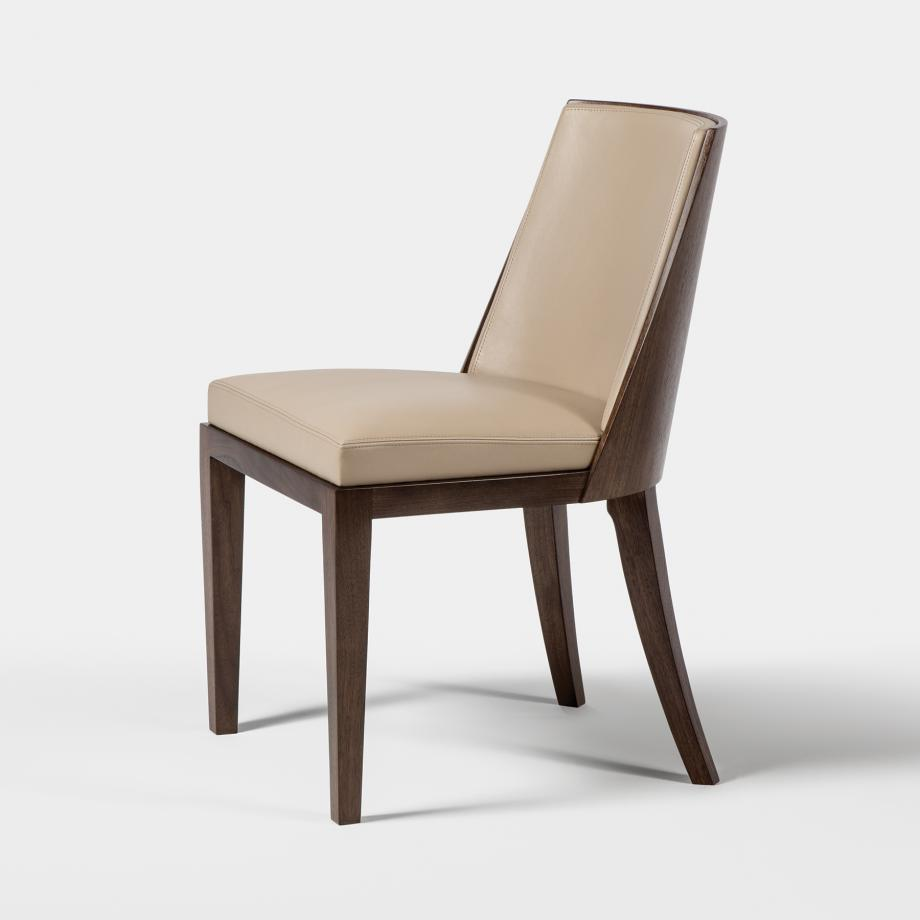 Crescent Dining Chair Walnut Cinder, Milano/Duomo