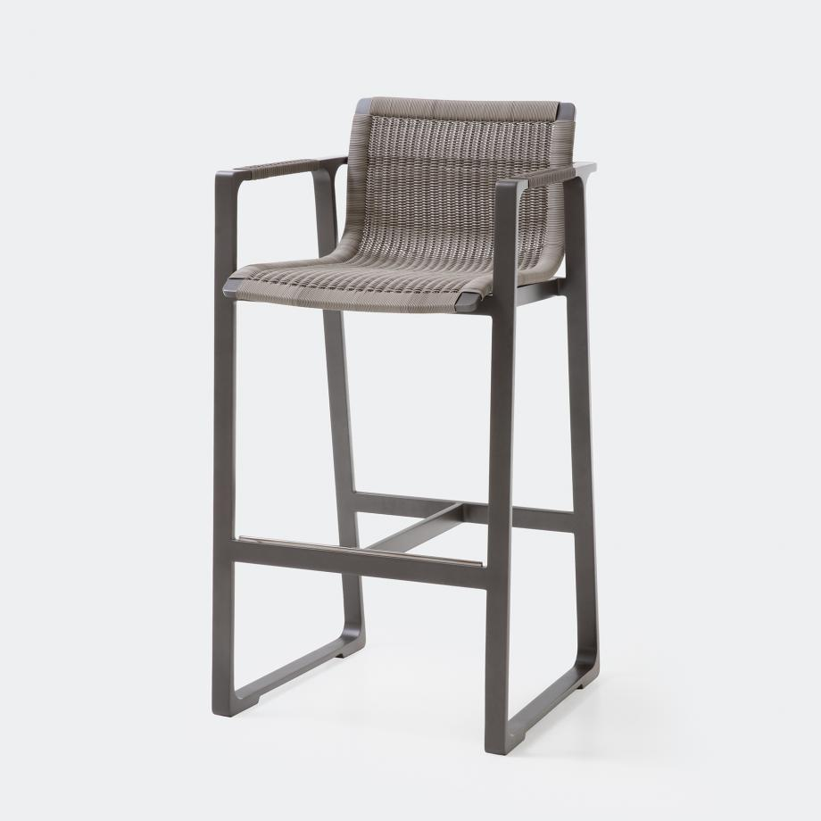 Keel Bar Stool, Oyster Frame