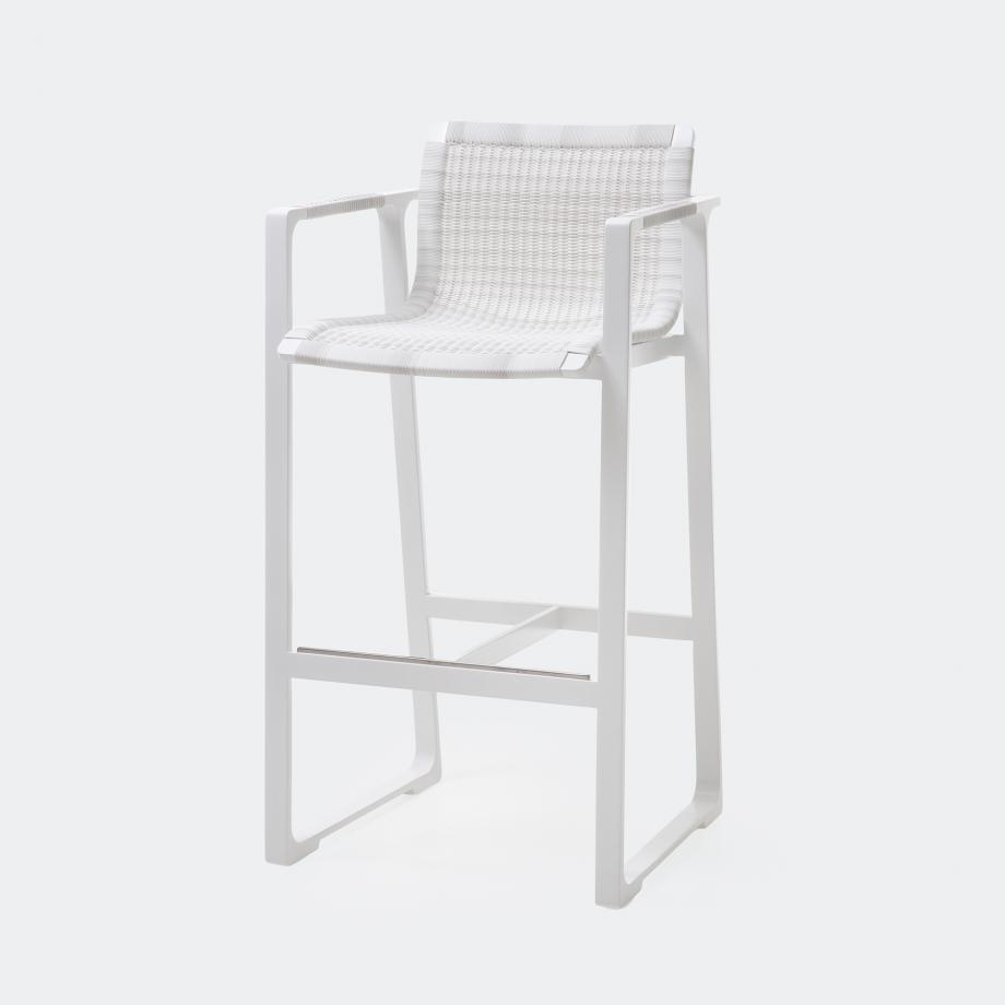 Keel Bar Stool, Pearl Frame