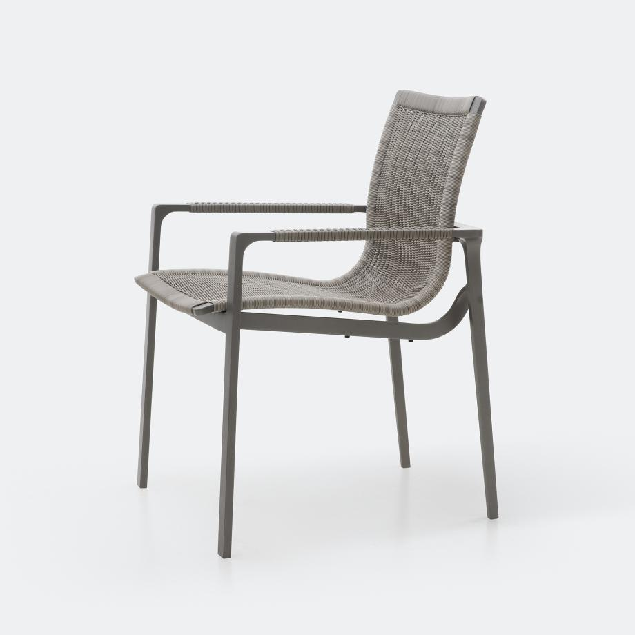 Keel Dining Chair, Oyster Frame