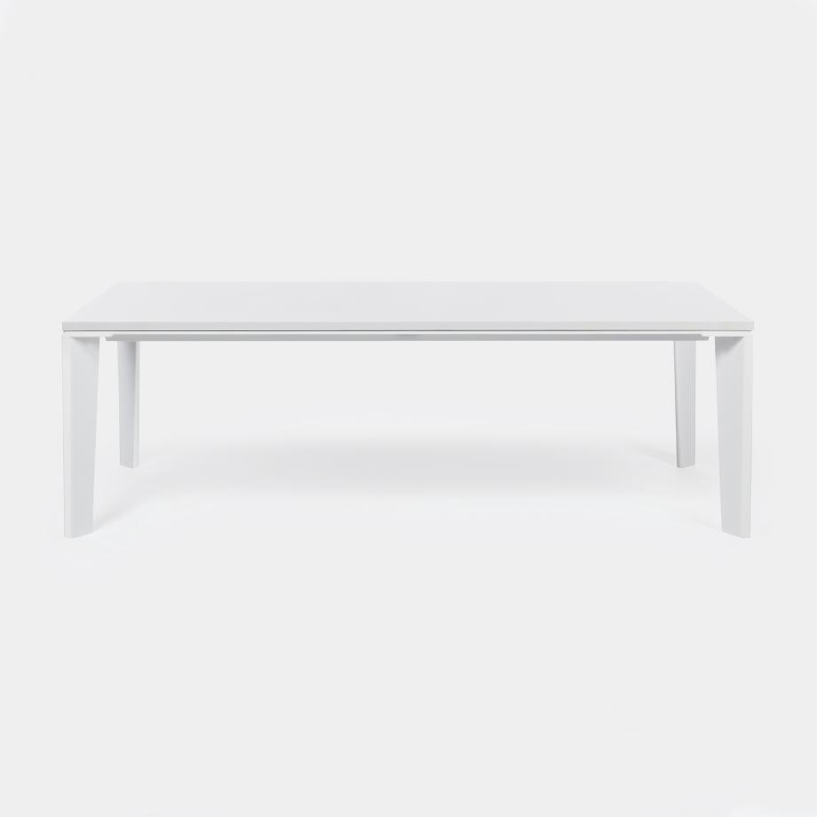 Keel Dining Table Sz 1, Pure White Top, Pearl Frame