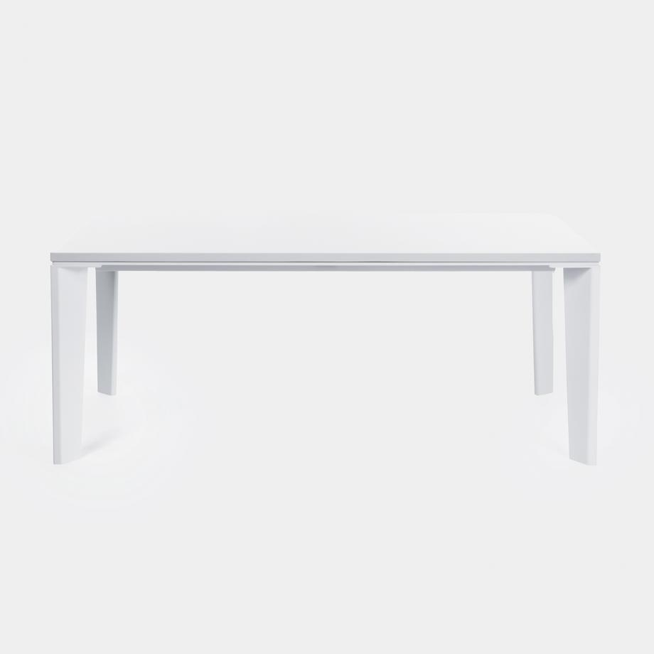 Keel Dining Table Sz 2, Pure White Top, Pearl Frame