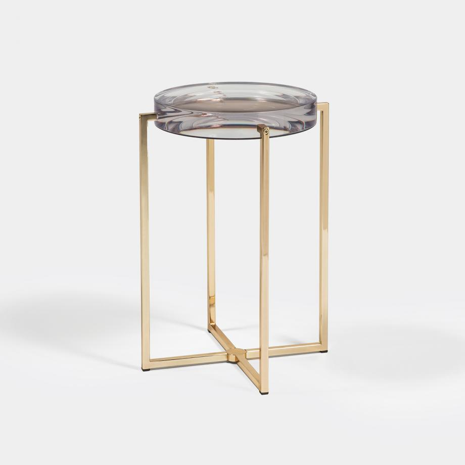 Lens Table Sz 1, Brass Base, Clear Top