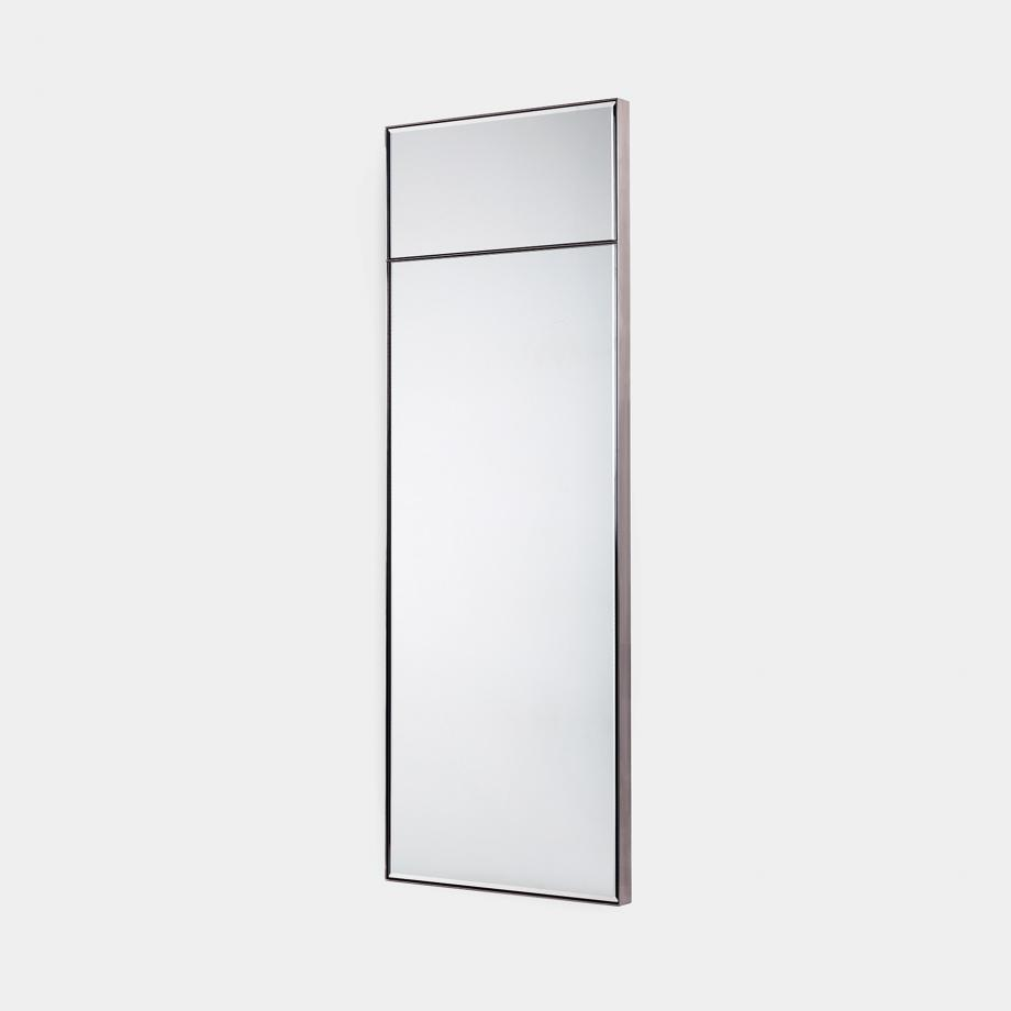 Metal Frame Mirror Sz 1, Polished Stainless Steel Frame