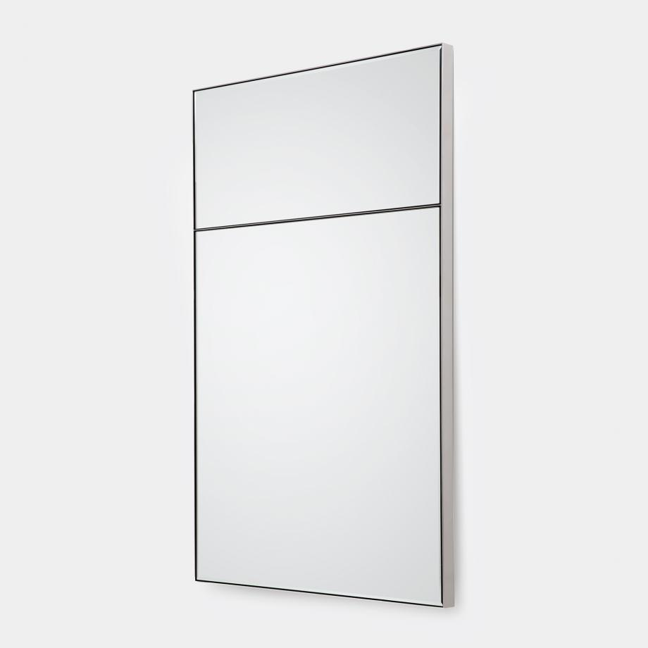 Metal Frame Mirror Sz 2, Polished Stainless Steel Frame