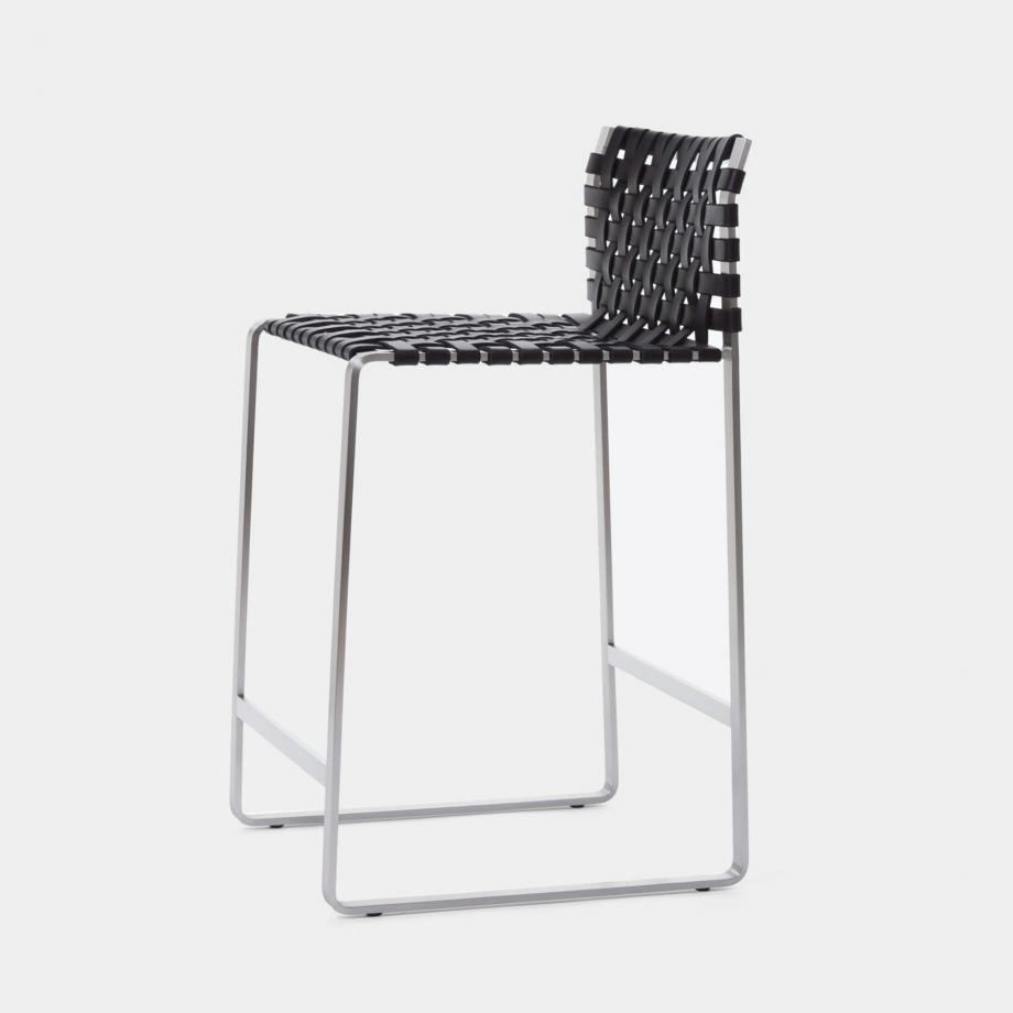 Low Woven Back Counter Stool