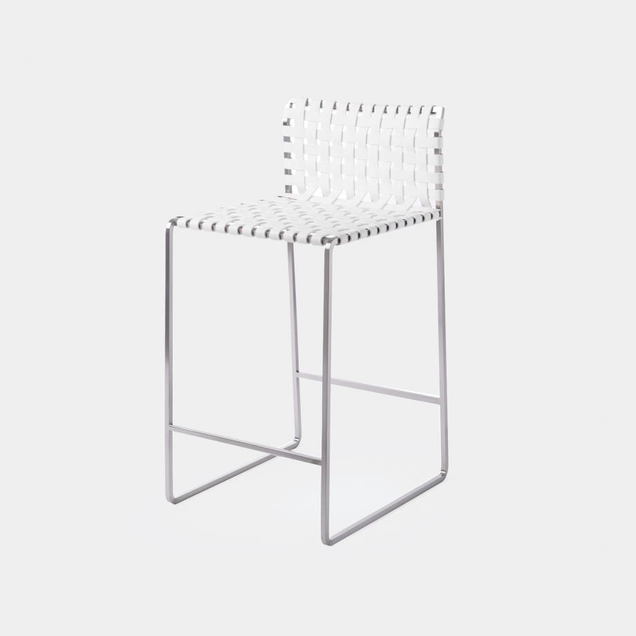 Outdoor Low Woven Back Counter Stool